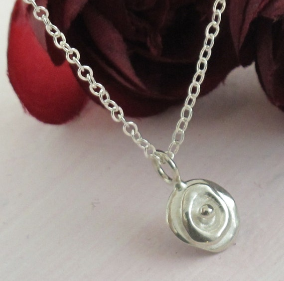 Petite Poppy Charm Necklace - in sterling silver by Kathryn Riechert