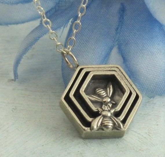 Honeycomb Necklace - in sterling silver by Kathryn Riechert