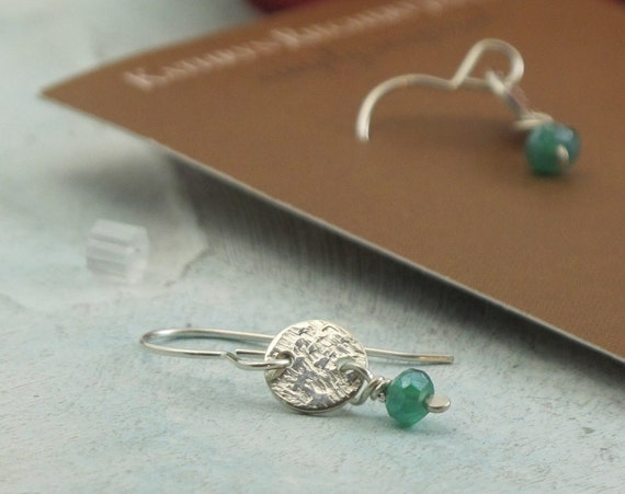 Petite Dangles with green onyx and sterling silver - by Kathryn Riechert