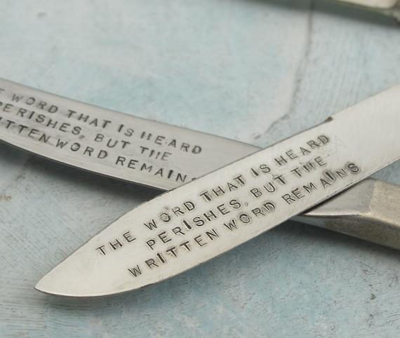 Letter Opener - made with vintage silverplate flatware by Kathryn Riechert