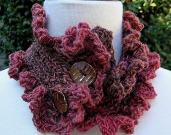 Angel Scarflette PDF Original Design Knit and Crochet PATTERN