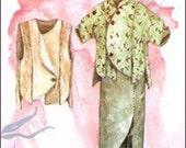 Lacedress---Peony pattern--uncut