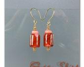 Gypsy Skirt lampwork bead earrings