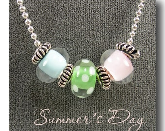 Summer's Day necklace sterling ball chain