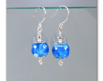 Catalina lampwork bead earrings