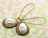 Pearl Earrings White Clouds