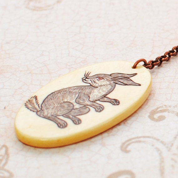 Year of the Rabbit Celebration Copper Necklace