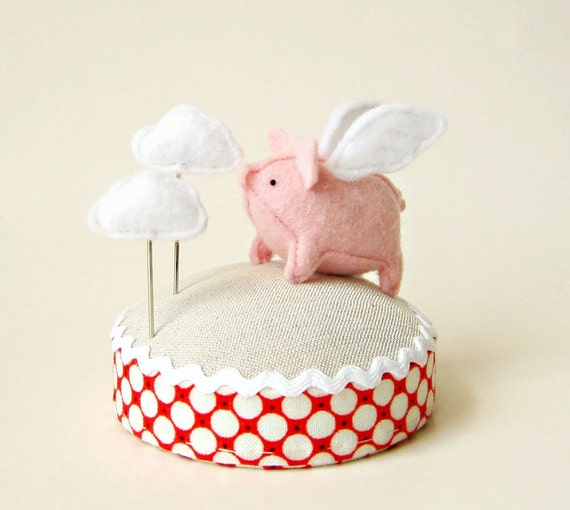 Flying Pig Pincushion