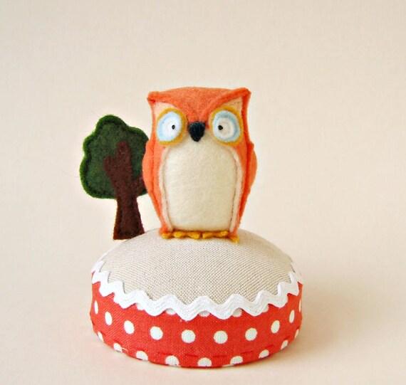Owl and Tree Pincushion