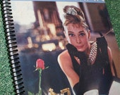 Breakfast at Tiffany's Recycled Album Cover Notebook