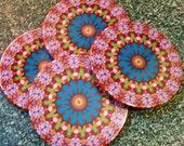 Tropical Kaleidoscope Coasters