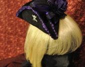 Dark Regal Purple Pirate Mini Tri-Corner Hat