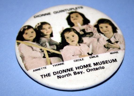Dionne Quintuplets Pin Vintage