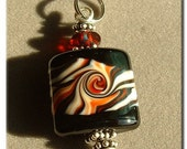 Small Black and Red Pendant