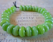 Lampwork Spacer Beads in Candied Lime