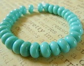 Lampwork Spacer Beads in Turquoise