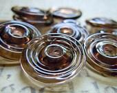 Dirty Dozen Lampwork Disc Beads in Bronze