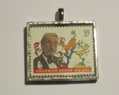 Postage Stamp Pendant - Dr. Seuss