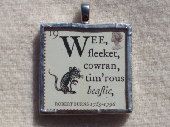 Postage Stamp Pendant - Robert Burns