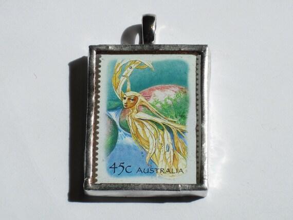 Postage Stamp Pendant - Magic Rainforest - Sprite