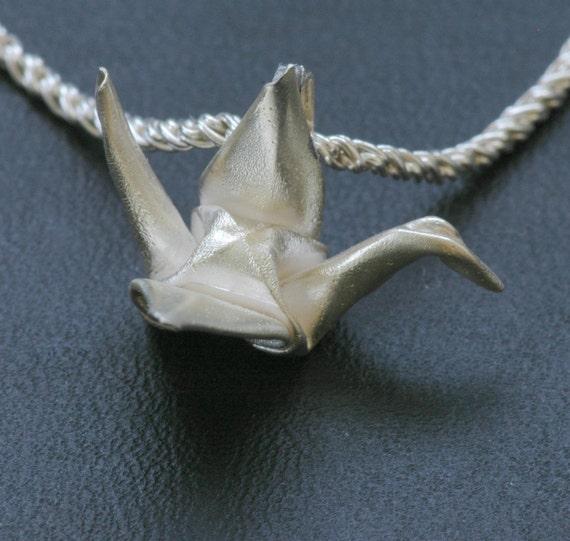 Japanese Origami Wedding Crane Necklace