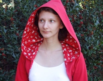 Little Red Riding Hood and the White Rabbit hoody shrug