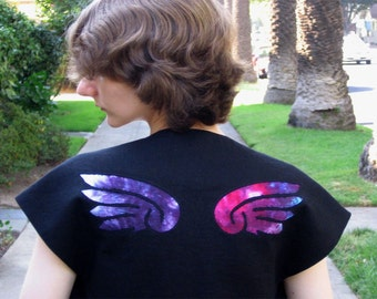 Aurora angel wings shrug in linen