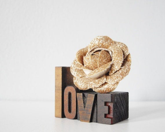 love letterpress wood blocks romantic gift for lovers - Valentine's Day typography collection