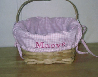 Personalized Easter basket liners,custom sized,gingham