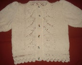 Custom Order for Luv4dolls2 - Ivory cotton 4 ply jacket aged 18 months