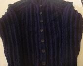 NOT FOR SALE - Custom Order for Pinkmonkeypants Navy Cardigan Size 10\/12