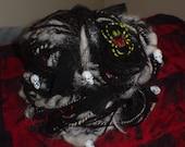 Graveyard Horror - Handspun Spooky Halloween Goth yarn