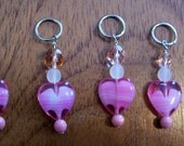 Valentine Stitch Markers for knitters