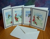 Set of 12 Art Quilt Note Cards- 4 Designs- Set 9