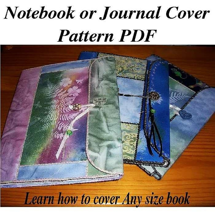 Notebook Cover Pattern : Notebook or journal cover pattern by andrusgardensquilts