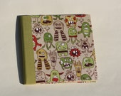 Monster Journal with Vintage School Paper