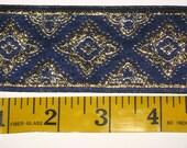 blue metallic quadrafoil trim