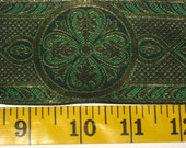 wide green and gold mosaic trim