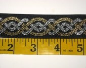 gold and silver Celtic knot work trim