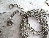 24 inch Chain for Pendant Necklace Long - Sterling Silver, oxidized
