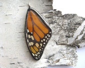 Real Monarch Butterfly Wing Jewelry- reversible glass pendant or necklace