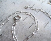 16 inch Flat Cable Chain Necklace - Sterling Silver