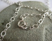 25 inch Long Silver Chain for Necklace Pendants - Sterling Silver