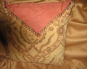 Beautiful Chenille and Silk Pillow 18x18