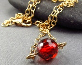 Red Gold Pendant Necklace Gold Chain Pendant Apple Red Pendant Cubic Zirconia Ample Goddess Jewelry