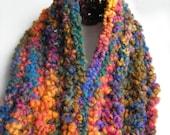 Jewel colored keyhole scarf