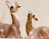 Ceramic Animals Pair of Llamas