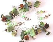 Autumn - sterling beaded charm bracelet