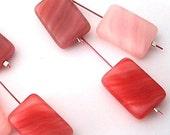 Sterling & Czech glass dangle earrings, Pinks