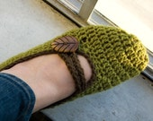 Leafy Mary Jane Slippers (for Becca)